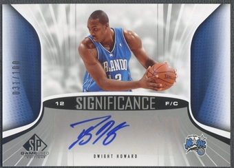 2006/07 SP Game Used #DH Dwight Howard SIGnificance Auto /100