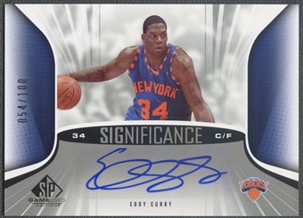 2006/07 SP Game Used #EC Eddy Curry SIGnificance Auto #054/100