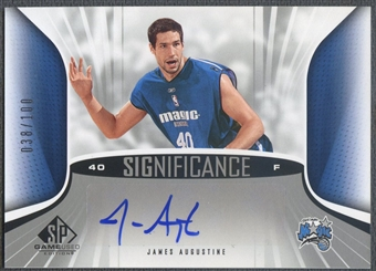 2006/07 SP Game Used #AU James Augustine SIGnificance Rookie Auto #038/100