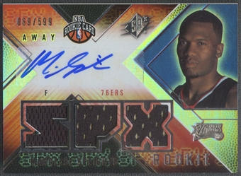 2008/09 SPx #159 Marreese Speights Rookie Jersey Auto #069/599