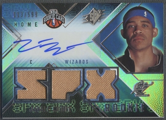 2008/09 SPx #137 Javale McGee Rookie Jersey Auto #113/599
