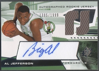 2004/05 SPx #134 Al Jefferson Rookie Jersey Auto #1395/1999