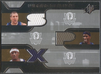 2007/08 SPx #TNH Dirk Nowitzki Josh Howard Jason Terry Winning Materials Triples Jersey