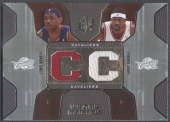 2007/08 SPx #HJ LeBron James & Larry Hughes Winning Materials Combos Jersey