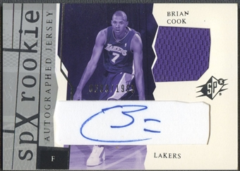 2003/04 SPx #171 Brian Cook Rookie Jersey Auto #0299/1999