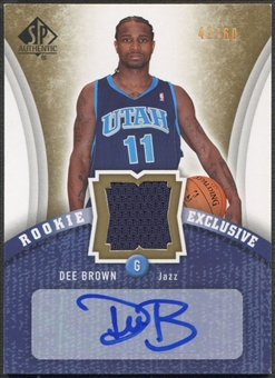 2006/07 SP Authentic #DE Dee Brown Rookie Exclusives Jersey Auto #42/60