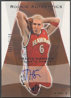 2003/04 SP Authentic #183 Travis Hansen Rookie Auto #0075/1250