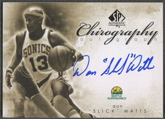 2008/09 SP Authentic #CDW Don Watts Chirography Auto