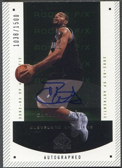 2002/03 SP Authentic #169 Carlos Boozer Rookie Auto #1038/1500