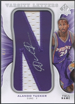 "2008/09 SP Authentic #VVAT Alando Tucker Letter ""N"" Patch Auto #4/7"
