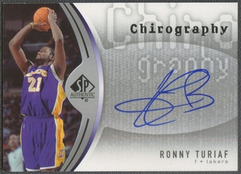 2006/07 SP Authentic #RT Ronny Turiaf Chirography Auto