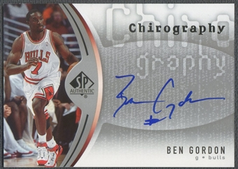 2006/07 SP Authentic #BG Ben Gordon Chirography Auto