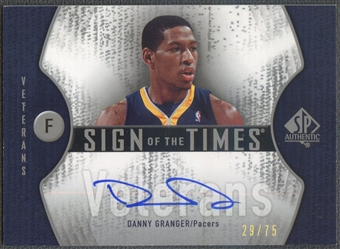 2006/07 SP Authentic #DG Danny Granger Sign of the Times Veterans Auto #29/75