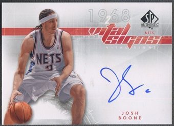 2008/09 SP Authentic #VSJB Josh Boone Vital Signs Auto