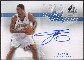 2008/09 SP Authentic #VSTC Tyson Chandler Vital Signs Auto