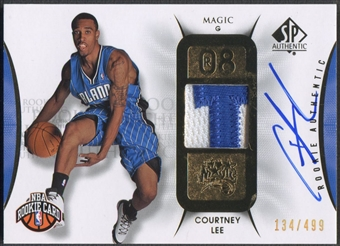 2008/09 SP Authentic #123 Courtney Lee Rookie Patch Auto #134/499