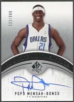 2006/07 SP Authentic #107 Pops Mensah-Bonsu Rookie Auto /999