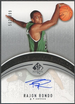 2006/07 SP Authentic #111 Rajon Rondo Rookie Auto #502/999