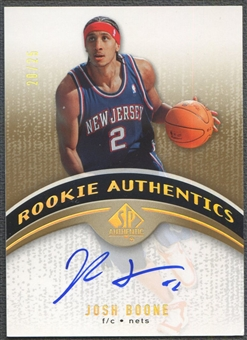 2006/07 SP Authentic #113 Josh Boone Gold Rookie Auto #20/25