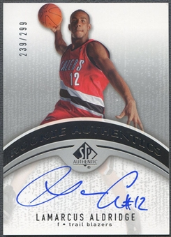 2006/07 SP Authentic #124 LaMarcus Aldridge Rookie Auto #239/299