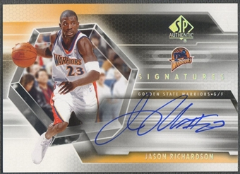 2004/05 SP Authentic #JA Jason Richardson Signatures Auto