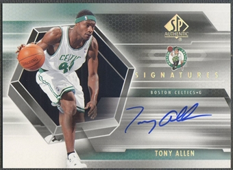 2004/05 SP Authentic #TA Tony Allen Signatures Rookie Auto