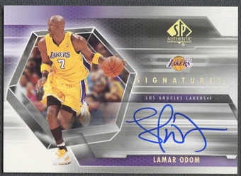 2004/05 SP Authentic #LO Lamar Odom Signatures Auto
