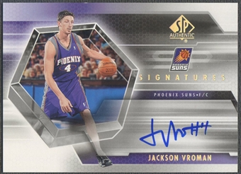 2004/05 SP Authentic #JV Jackson Vroman Signatures Rookie Auto