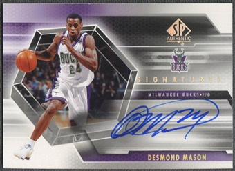 2004/05 SP Authentic #DM Desmond Mason Signatures Auto
