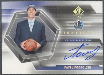 2004/05 SP Authentic #PA Pavel Podkolzin Signatures Rookie Auto