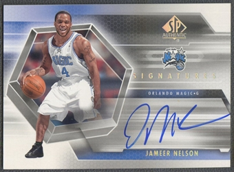 2004/05 SP Authentic #JN Jameer Nelson Signatures Auto