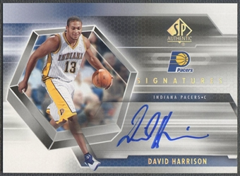 2004/05 SP Authentic #HA David Harrison Signatures Rookie Auto