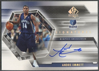 2004/05 SP Authentic #AE Andre Emmett Signatures Rookie Auto