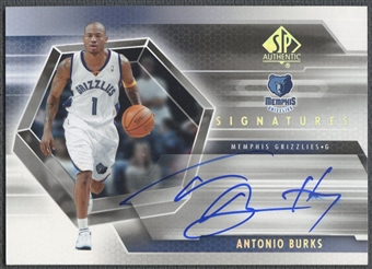 2004/05 SP Authentic #AB Antonio Burks Signatures Rookie Auto