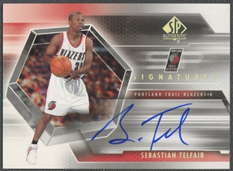 2004/05 SP Authentic #ST Sebastian Telfair Signatures Rookie Auto