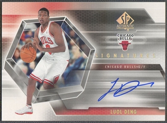 2004/05 SP Authentic #LD Luol Deng Signatures Rookie Auto