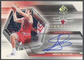 2004/05 SP Authentic #NO Andres Nocioni Signatures Rookie Auto