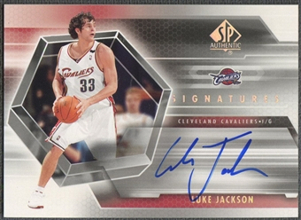 2004/05 SP Authentic #LU Luke Jackson Signatures Rookie Auto