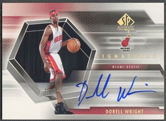 2004/05 SP Authentic #DW Dorell Wright Signatures Rookie Auto