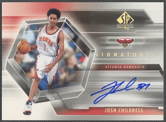 2004/05 SP Authentic #JC Josh Childress Signatures Rookie Auto