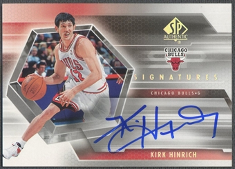 2004/05 SP Authentic #KI Kirk Hinrich Signatures Auto