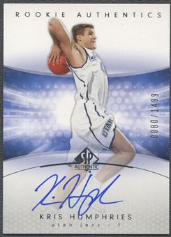 2004/05 SP Authentic #174 Kris Humphries Rookie Auto /1499