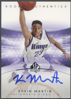 2004/05 SP Authentic #162 Kevin Martin Rookie Auto /1499