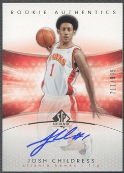 2004/05 SP Authentic #182 Josh Childress Rookie Auto /999