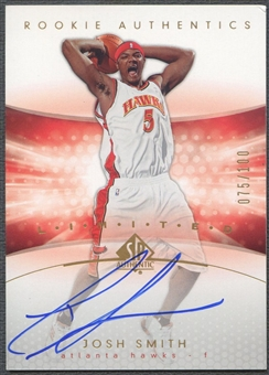 2004/05 SP Authentic #171 Josh Smith Limited Rookie Auto #075/100