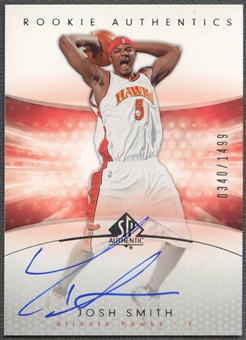2004/05 SP Authentic #171 Josh Smith Rookie Auto /1499
