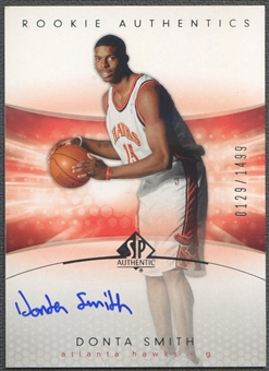 2004/05 SP Authentic #154 Donta Smith Rookie Auto /1499