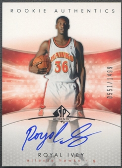 2004/05 SP Authentic #151 Royal Ivey Rookie Auto /1499