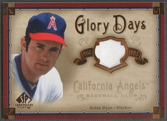 2005 SP Legendary Cuts #NR Nolan Ryan Glory Days Material Jersey