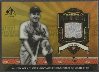 2006 SP Legendary Cuts #MO Mel Ott Chronology Materials Jersey
